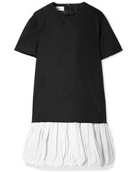 MARQUES ALMEIDA Layered Frayed Drill Mini Dress