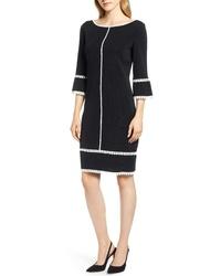 Ming Wang Passeterie Detail Shift Dress