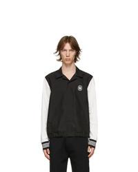 Neil Barrett Black And White Monogram Badge Travel Jacket