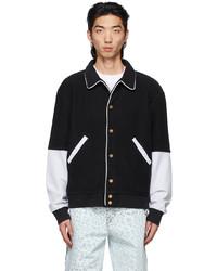 We11done Black Varsity Jacket