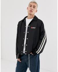 Diesel J Akito Taped Sleeve Logo Jacket In Black