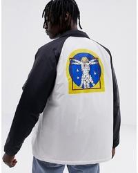 Vans X Space Voyager Torrey Coach Jacket In Black Vn0a3hxzwuz1