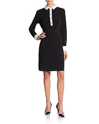 Ivanka trump belted jersey shirtdress medium 287169