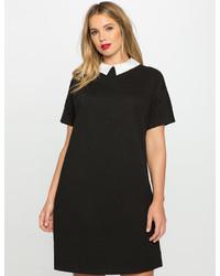 Knit shirt dress with collar medium 3644574