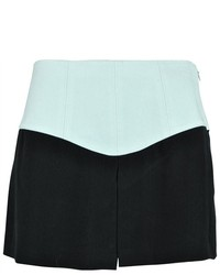 Tibi Colorblock High Waisted Silk Shorts