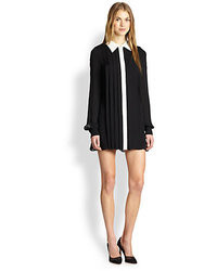 Rachel Zoe Laurel Silk Chiffon Pleated Shirtdress