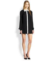 Rachel Zoe Laurel Silk Chiffon Pleated Shirtdress