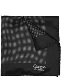 Black and White Silk Pocket Square