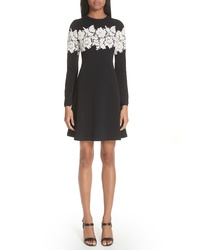 Valentino Lace Stripe Knit Dress