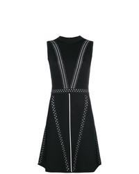 Stitch detail sleeveless dress medium 8265623