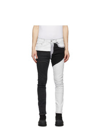 Rick Owens DRKSHDW Black And White Detroit Cut Jeans