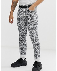 Pull&Bear Co Ord Slim Fit Jeans In Snake Print
