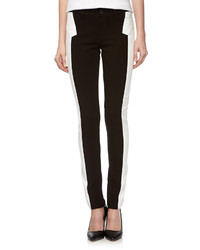 Fade To Blue Super Skinny Ponte Faux Leather Pants