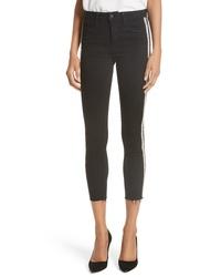 L'Agence Margot Embellished Crop Skinny Jeans