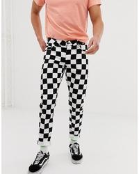ASOS DESIGN Slim Jeans In Checkerboard Print