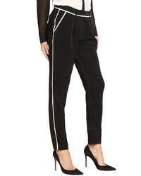 Greylin Black Woven Miki Tuxedo Stretch Pants