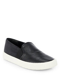 Black and White Slip-on Sneakers
