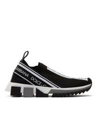 Dolce And Gabbana Black Sorrento Slip On Sneakers