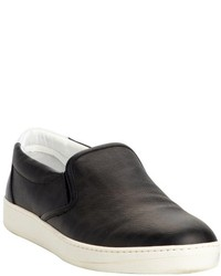 Fendi Black Zucca Coated Canvas Slip On Sneakers