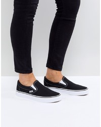 Vans Classic Slip On Trainers In Black And White