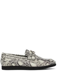 Givenchy Black White Python G Chain Loafers