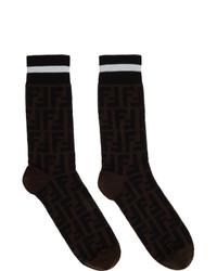 Fendi Black And Brown Forever Socks