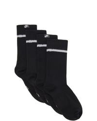 Nike Two Pack Black Essential Crew Socks