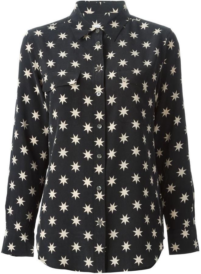 6815d5fa863a6d ... Black and White Star Print Dress Shirts Equipment All Over Star Print  Shirt