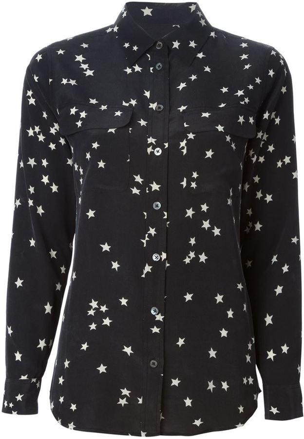 6e065018b94db9 ... Black and White Star Print Dress Shirts Equipment Star Print Shirt