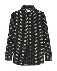 Saint Laurent Printed Silk De Chine Shirt