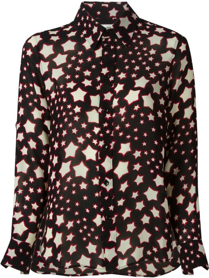 Saint Laurent Star Print Shirt Where To Buy How To Wear