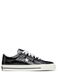 Converse Black Patent One Star Ox Sneakers