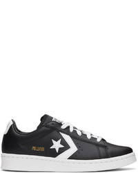 Converse Black White Leather Pro Ox Sneakers