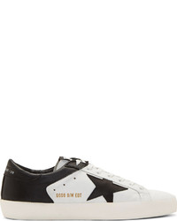 White black leather limited edition superstar sneakers medium 127695