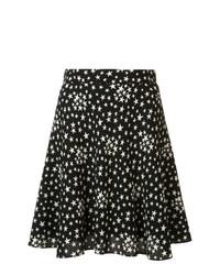 Saint Laurent Star Print Lightly Pleated Skirt