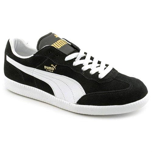 ... Puma Liga Black Suede Sneakers Shoes Uk 12 7c71db34c334