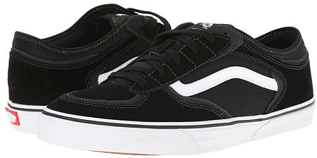 a172d9d347bbd6 ... Black and White Suede Low Top Sneakers Vans Rowley Pro ...