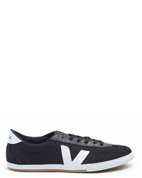 Veja Volley Suede Panel Organic Canvas Sneakers