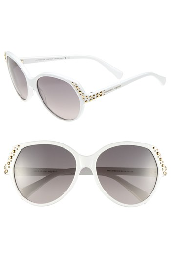 d412f61840 ... Alexander McQueen Studded Sunglasses White One Size