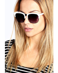 Boohoo Charlie Metallic Frame Retro Sunglasses