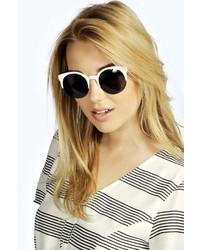 Boohoo Emily Mono Half Frame Sunglasses