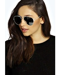 Boohoo Lily Aviator Sunglasses
