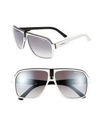 Carrera eyewear 62mm aviator sunglasses white one size medium 67730
