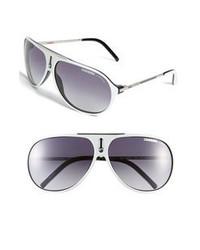 Carrera eyewear hots 64mm aviator sunglasses white one size medium 67019