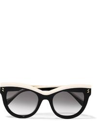 Stella McCartney Cat Eye Acetate Sunglasses Black