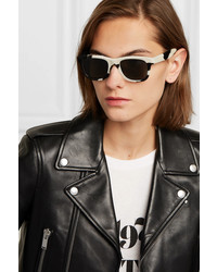 Saint Laurent Classic 51 D Frame Pony Hair Sunglasses