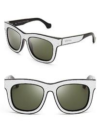 Balenciaga Cracked Leather Wayfarer Sunglasses
