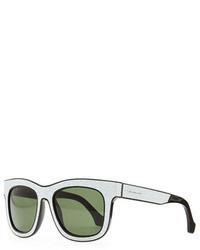 Cracked square sunglasses whiteblack medium 47499
