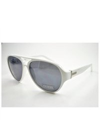 GUESS Sunglasses Gu 6730 White Silver 59mm