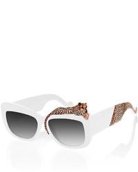 Karlsson Anna Karin Rose Et La Mere Leopard Sunglasses White